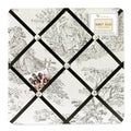 Sweet JoJo Designs Black French Toile Fabric Bulletin Board