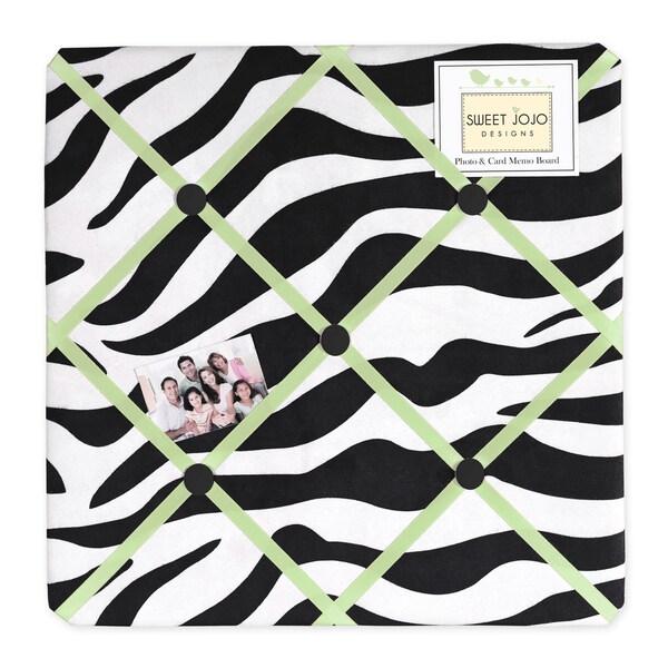 Sweet JoJo Designs Lime Funky Zebra Fabric Bulletin Board