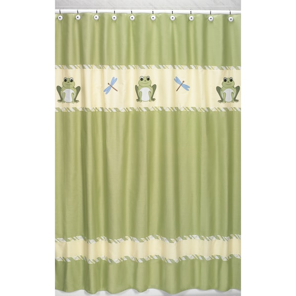 Sweet Jojo Designs Leap Frog Kids Shower Curtain