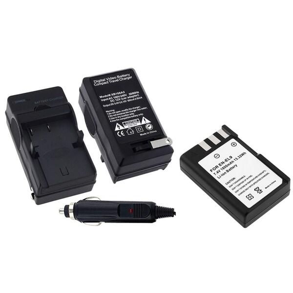 GeekManiac Battery Charger/ Li-ion Battery for Nikon D40/ D40x