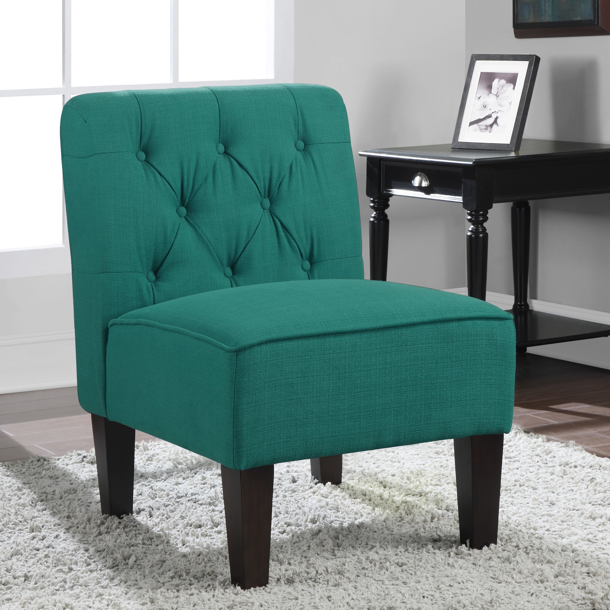 Peacock Blue Accent Chair Viewing Gallery