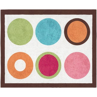 Sweet JoJo Designs Modern Deco Dot Cotton Floor Rug