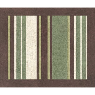 Sweet JoJo Designs Green and Brown Ethan Modern Cotton Floor Rug