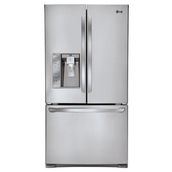 LG LFX25991ST 24.6 Cubic Foot Counter Depth French Door Refrigerator