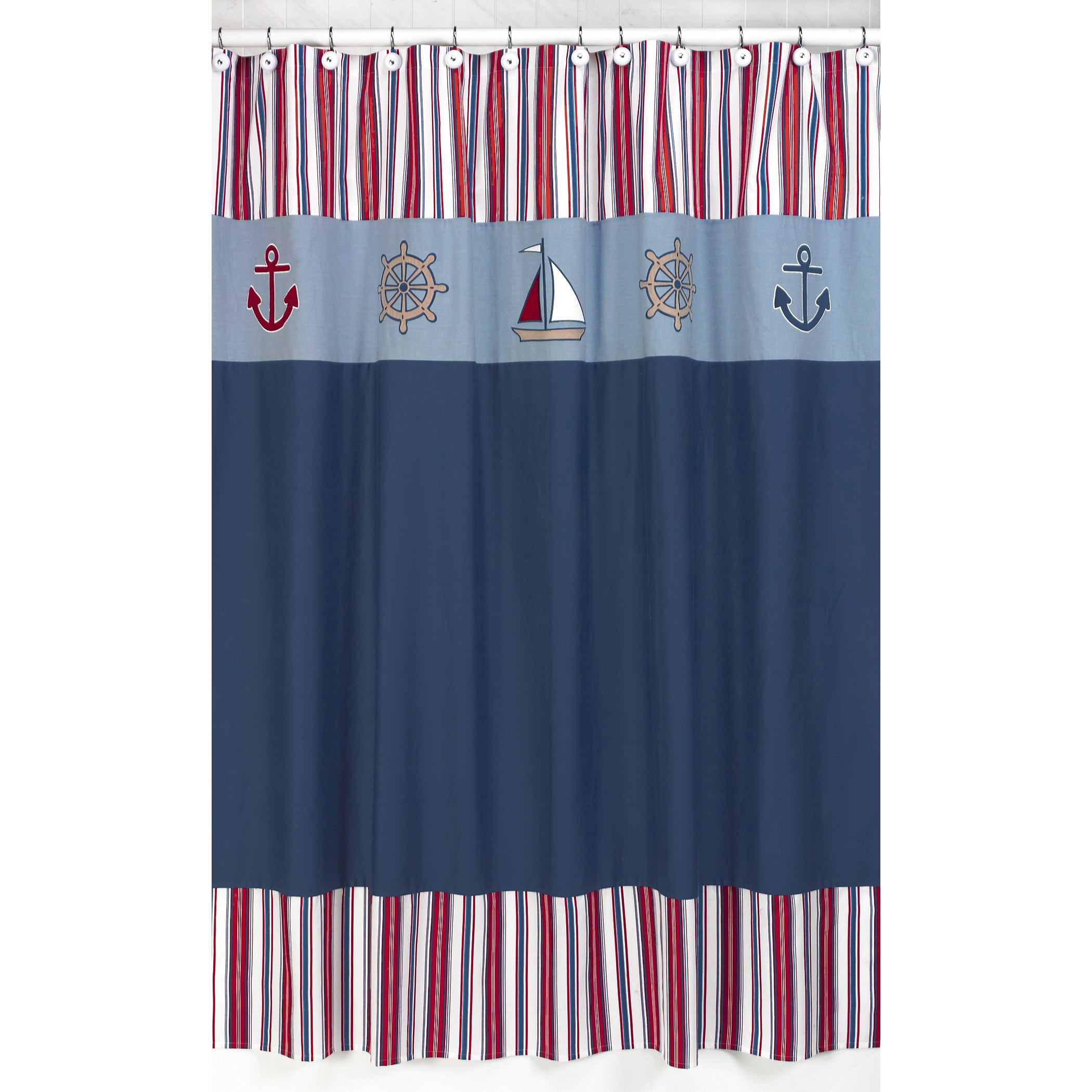 Sweet Jojo Designs Nautical Nights Sailboat Kids Shower Curtain at Sears.com