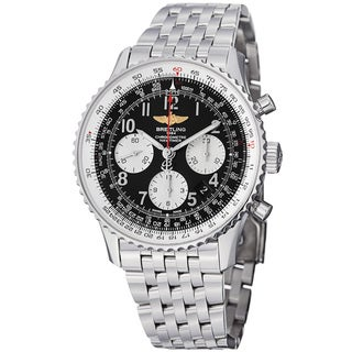 Breitling Men's 'Navitimer' Black Dial Stainless Steel Automatic Watch