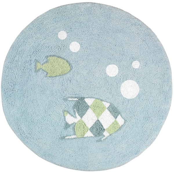 Sweet JoJo Designs Go Fish Cotton Floor Rug