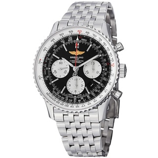 Breitling Men's 'Navitimer' Black Dial Steel Chronograph Watch