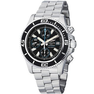 Breitling Men's 'SuperOcean Chrono' Black Dial Stainless Steel Watch