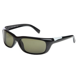 Serengeti 'Verucchio' Men's Shiny Black Polarized Sport Frame Sunglasses