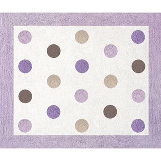 Sweet JoJo Designs Purple and Brown Mod Dots Cotton Floor Rug