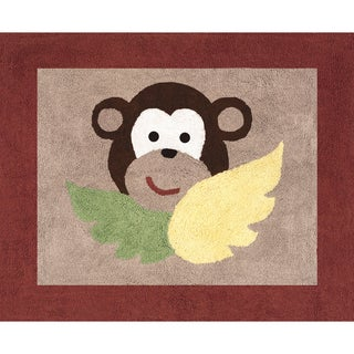 Sweet JoJo Designs Monkey Cotton Floor Rug