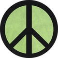 Sweet JoJo Designs Lime Groovy Peace Sign Cotton Floor Rug