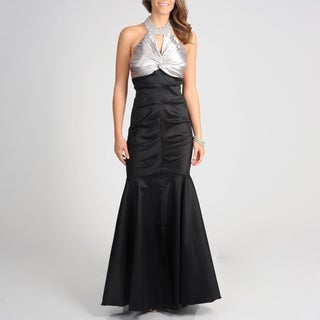 Cachet Women's Slate Black Full-length Mermaid Gown