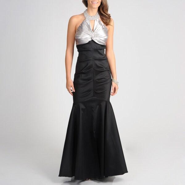 Cachet Women's Slate Black Full-length Mermaid Gown