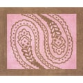 Sweet JoJo Designs Pink and Brown Paisley Cotton Floor Rug