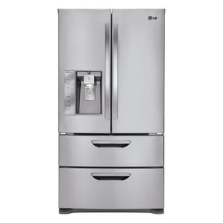 LG LMX31985ST Freestanding 30.5 Cubic Foot French 4-Door Refrigerator/ Freezer