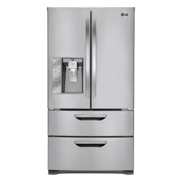 LG LMX31985ST Freestanding 30.5 Cubic Foot French 4-Door Refrigerator/ Freezer