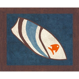Sweet JoJo Designs Blue Surf Cotton Floor Rug