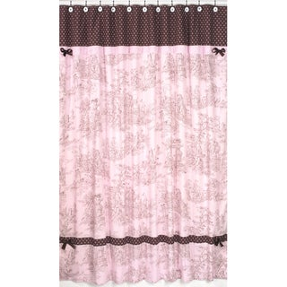 Sweet Jojo Designs Pink and Brown Toile/Polka Dot Shower Curtain