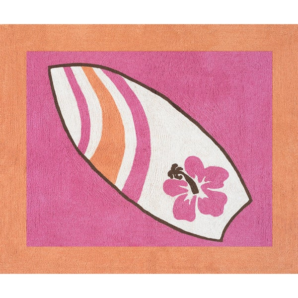 Sweet JoJo Designs Girls Surf Accent Floor Rug