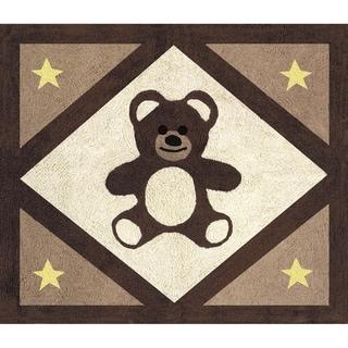 Sweet JoJo Designs Chocolate Teddy Bear Accent Floor Rug