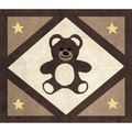 Sweet JoJo Designs Chocolate Teddy Bear Accent Floor Rug