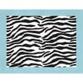 Sweet JoJo Designs Turquoise Funky Zebra Floor Rug