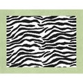 Sweet JoJo Designs Lime Funky Zebra Accent Floor Rug
