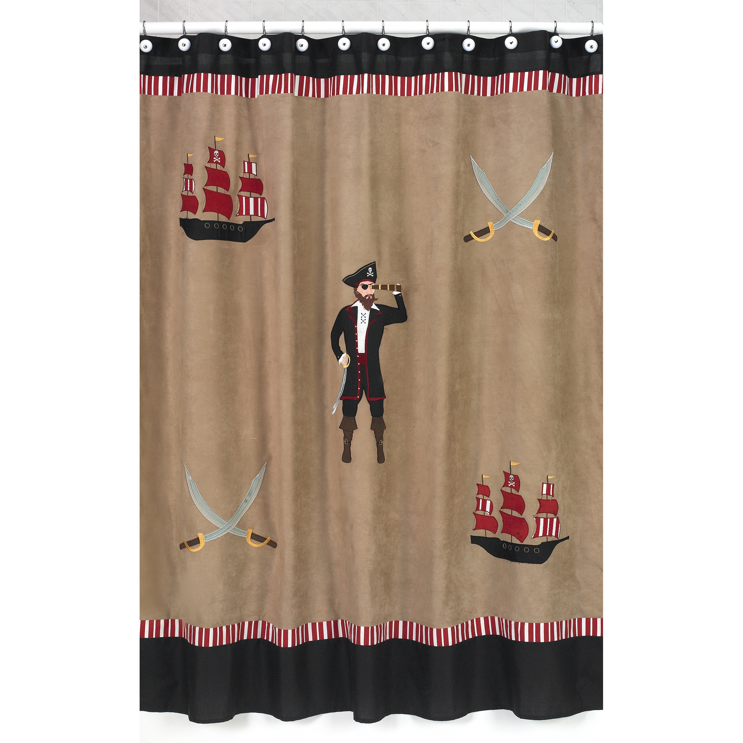 Sweet Jojo Designs Treasure Cove Pirate Kids Shower Curtain at Sears.com