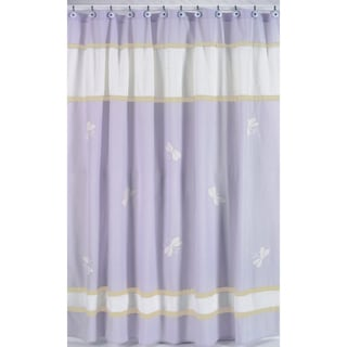 Purple Dragonfly Dreams Kids Shower Curtain