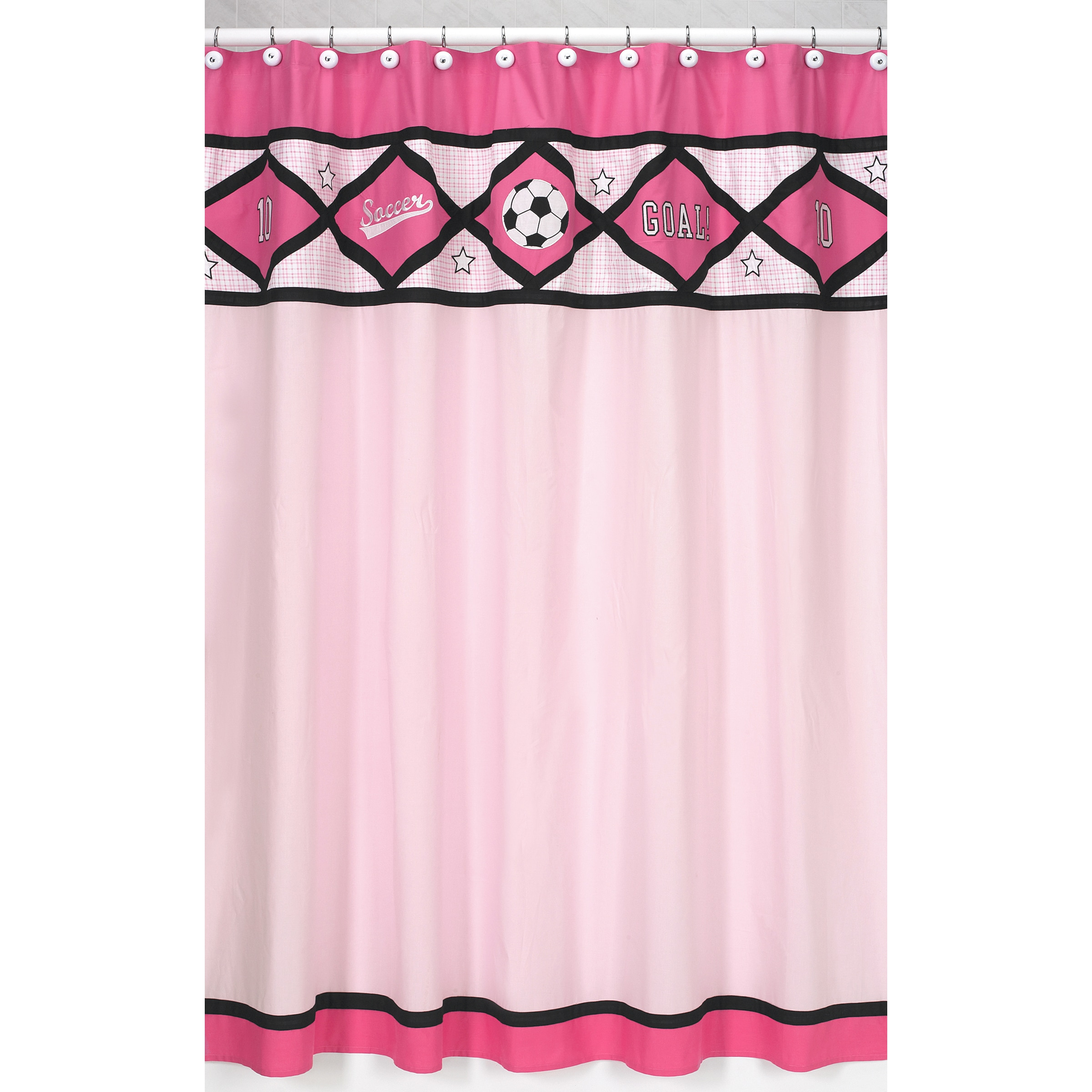 Sweet Jojo Designs Pink Soccer Kids Shower Curtain at Sears.com