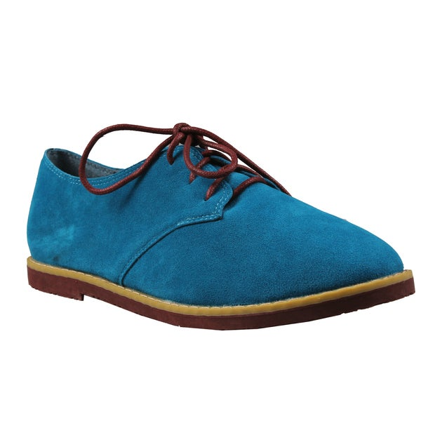 Refresh by Beston Women's 'Darby' Teal Lace-up Oxford Shoes