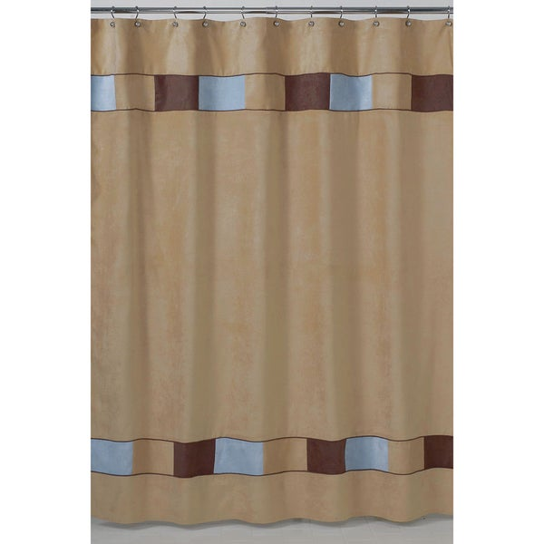 Sweet Jojo Designs Soho Blue and Brown Shower Curtain