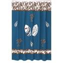 Sweet Jojo Designs Tropical Hawaiian Blue Shower Curtain