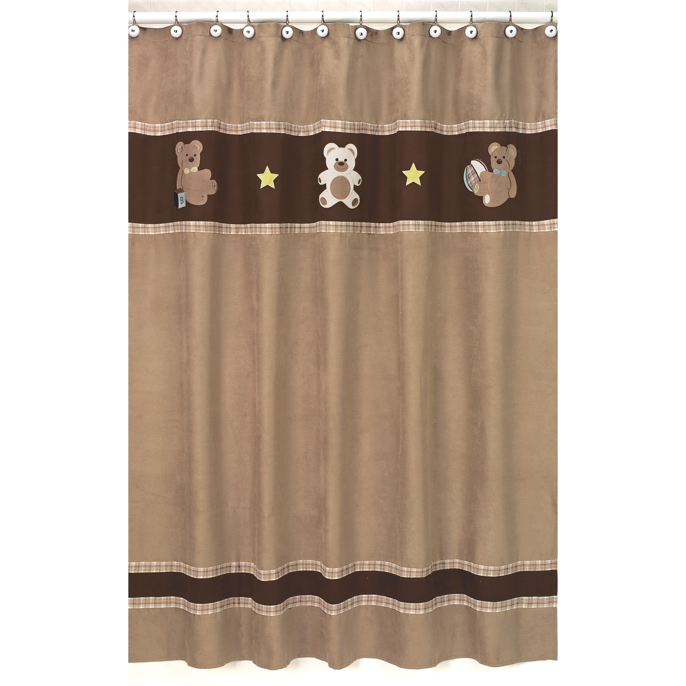 Sweet Jojo Designs Chocolate Teddy Bear Kids Shower Curtain at Sears.com