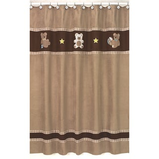 Chocolate Teddy Bear Kids Shower Curtain