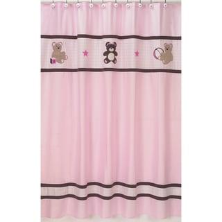 Sweet Jojo Designs Pink Teddy Bear Kids Shower Curtain
