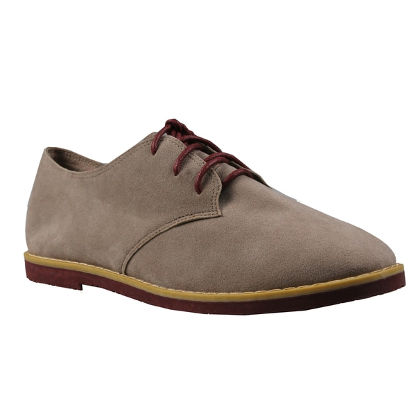 Refresh by Beston Women's 'Darby' Taupe Lace-up Oxford Shoes