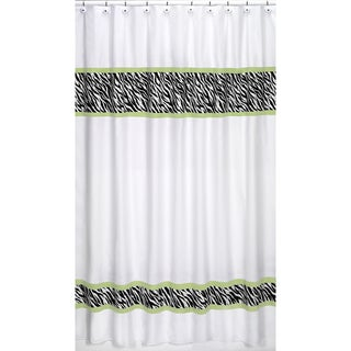 Sweet Jojo Designs Lime Funky Zebra 84-inch Curtain Panel Pair