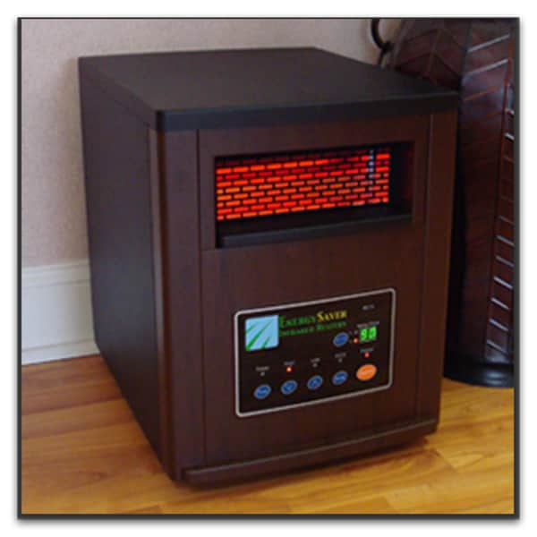 Energy Saver ES1500 Infrared Mahogany Finished Heater