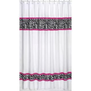 Sweet Jojo Designs Pink Funky Zebra Shower Curtain