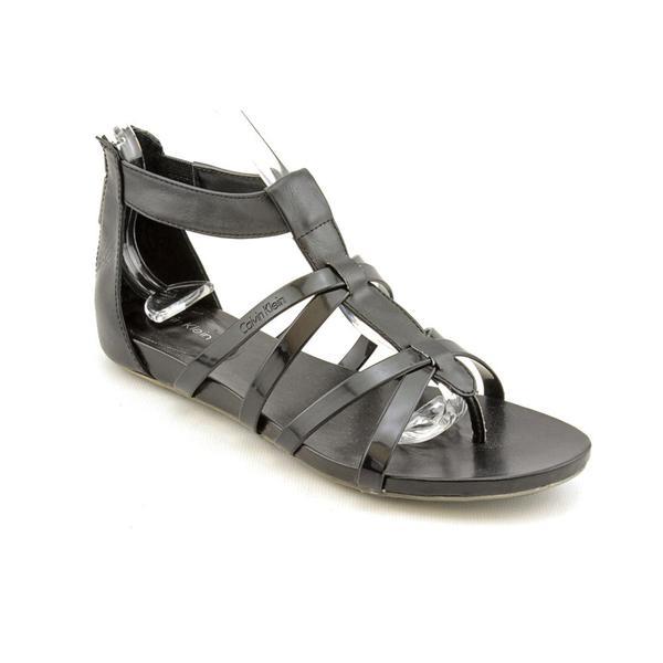 Calvin Klein Women's 'Patrina' Leather Sandals (Size 6.5)