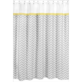 Yellow and Grey Zig Zag Shower Curtain