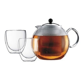Bodum Pavina Glass Teapot and Glass Set