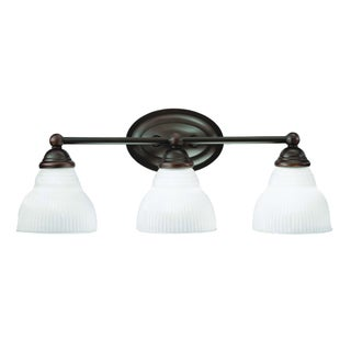Olde Bronze Transitional 3-light Bath/ Vanity Light