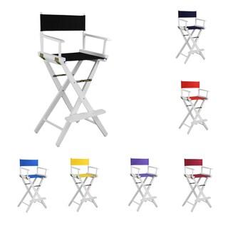 Bar-high Oak White Frame Director's Chair
