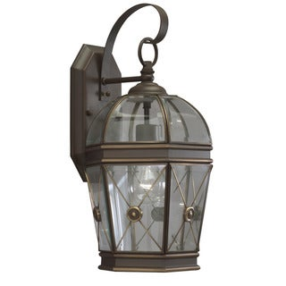 Olde Bronze Transitional 1-light Outdoor Wall Fixture