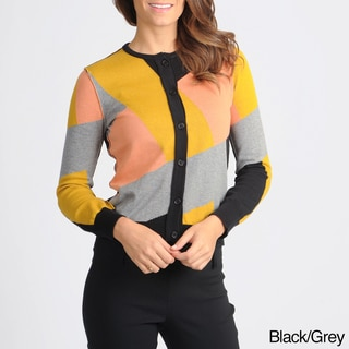 Yal New York Women's Patchwork Colorblock Cardigan