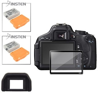 BasAcc Eyecup/ Battery/ Glass Screen Protector for Canon EOS 600D